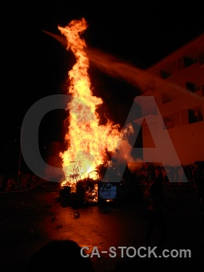 Fiesta fire building javea flame.