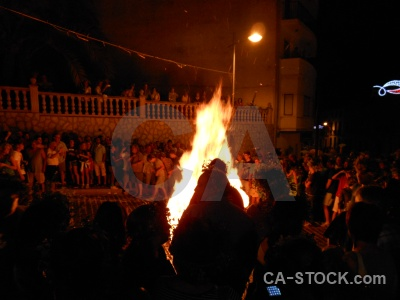 Fiesta fire flame javea person.