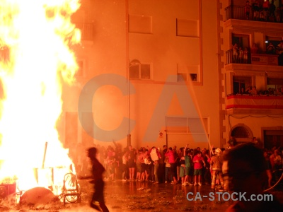 Fiesta fire javea flame building.