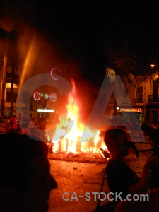 Fiesta fire javea silhouette flame.