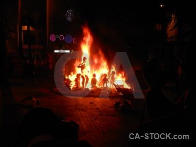 Fiesta fire silhouette flame javea.