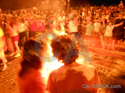 Fiesta flame javea fire person.