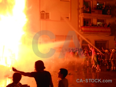 Fiesta flame person javea fire.