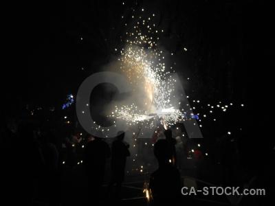 Fiesta javea correfocs black firework.