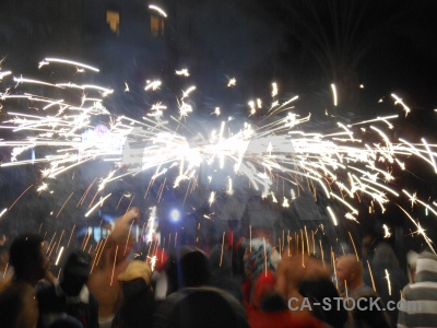 Fiesta javea firework person correfocs.