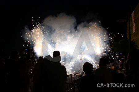 Fiesta javea firework smoke correfocs.
