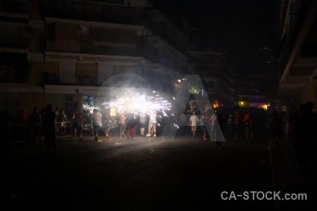 Fiesta javea person correfocs firework.