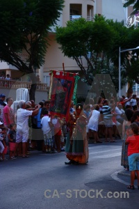 Fiesta javea person flag moors.