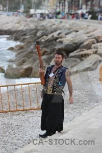 Fiesta musket costume weapon beach.