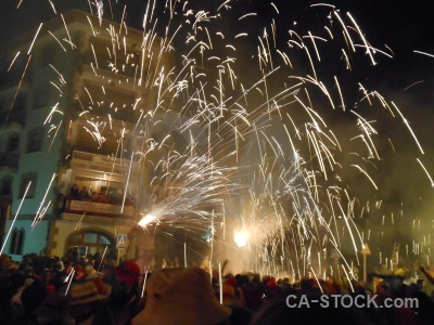 Fiesta person javea correfocs firework.