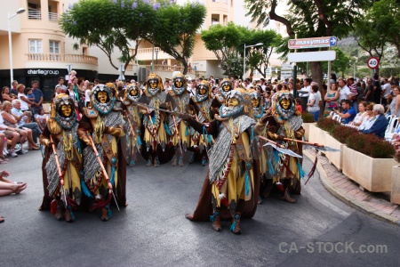 Fiesta person moors javea costume.