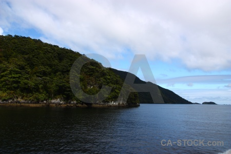 Fiord south island cloud mountain doubtful sound.