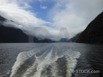 Fiord south island cloud sky doubtful sound.