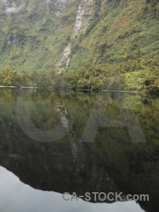 Fiordland doubtful sound fiord reflection south island.