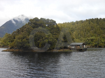 Fiordland doubtful sound south island rock fiord.