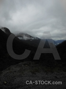 Fiordland sound cloud fiord new zealand.