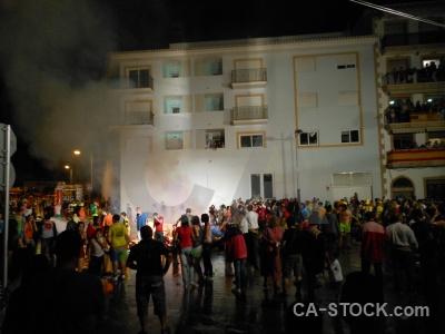 Fire fiesta building person javea.