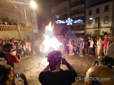 Fire fiesta javea flame person.