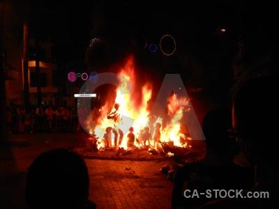 Fire flame fiesta silhouette javea.