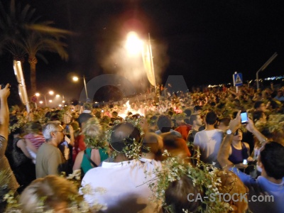 Fire flame person javea fiesta.