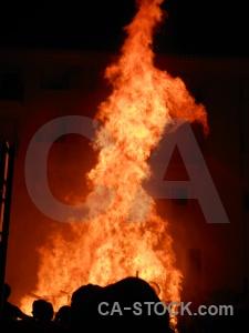Fire javea flame silhouette fiesta.