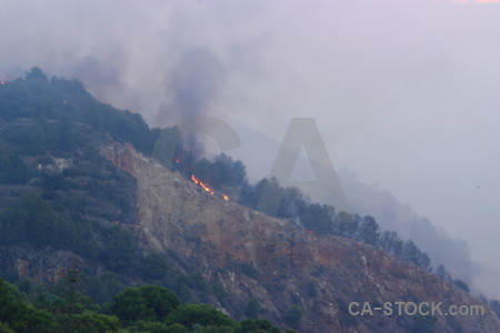 Fire montgo fire javea spain firefighting.