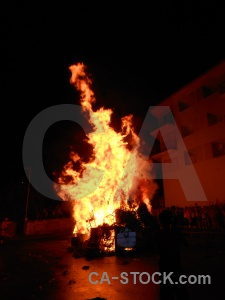 Fire person javea building fiesta.