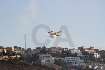 Firefighting airplane javea spain montgo fire.