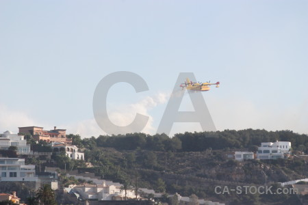 Firefighting javea europe airplane spain.