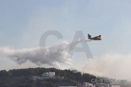 Firefighting javea europe montgo fire airplane.