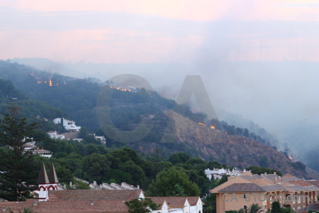 Firefighting spain montgo fire javea europe.