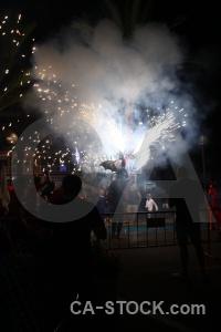 Firework black javea fiesta correfocs.