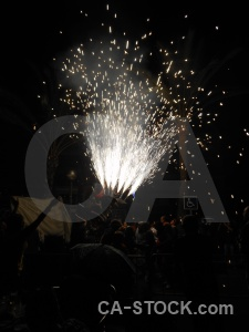 Firework correfocs black javea europe.