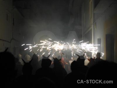 Firework correfocs fiesta building javea.