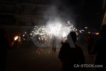 Firework correfocs person javea fiesta.