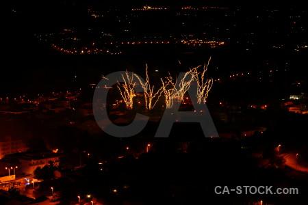 Firework europe spain black javea.