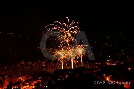 Firework europe spain javea night.