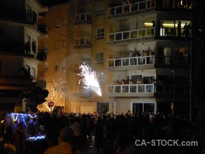 Firework fiesta correfocs person javea.
