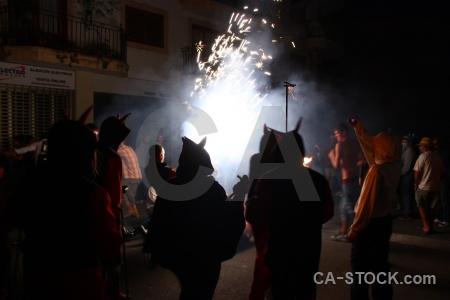Firework javea correfocs fiesta europe.