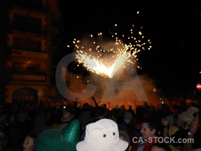 Firework javea fiesta correfocs building.