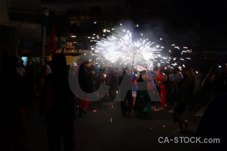 Firework spain correfocs black javea.