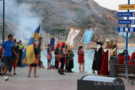 Flag fiesta costume spain water.