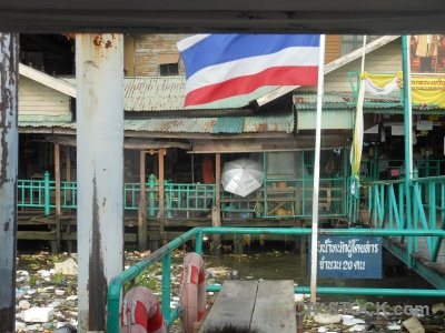 Flag railing thailand building southeast asia.