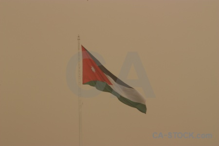 Flag sky middle east amman jordan.