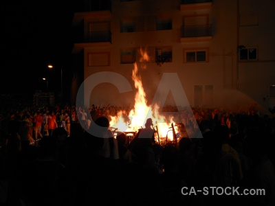 Flame building fire javea person.