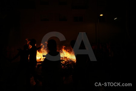 Flame europe javea silhouette fire.