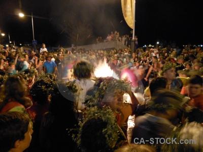 Flame fire fiesta javea person.