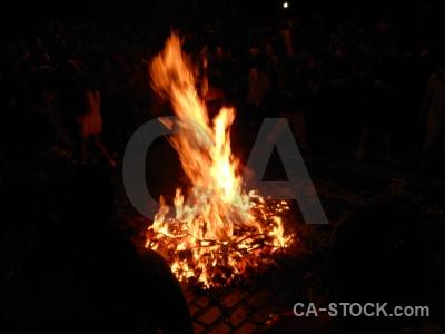 Flame fire javea fiesta person.