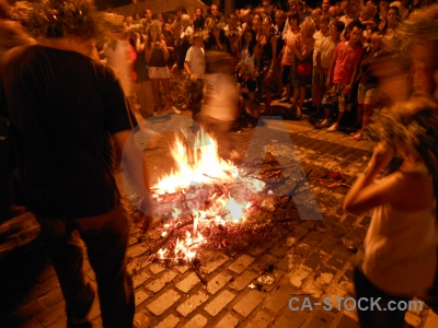 Flame fire javea person fiesta.