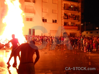 Flame fire person javea fiesta.